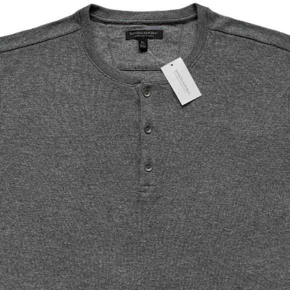 f15937cc Banana Republic Shirts | New Gray Long Sleeve Henley Xl | Poshmark